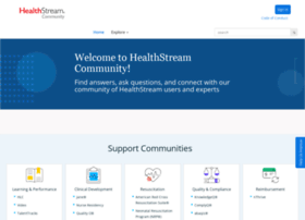 community.healthstream.com