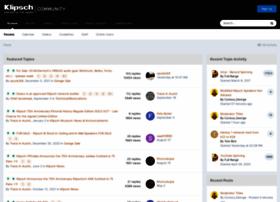 community.klipsch.com