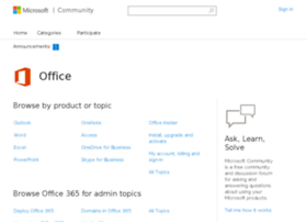 community.office365.com
