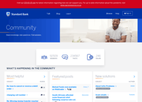 community.standardbank.co.za