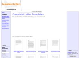 complaintletter.net