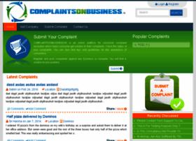 complaintsonbusiness.in