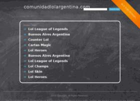 comunidadlolargentina.com