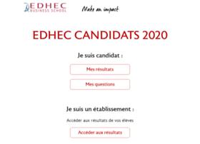 concours.edhec.com