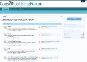 consciouslivingforum.com