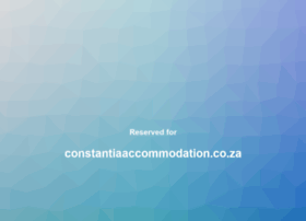 constantiaaccommodation.co.za