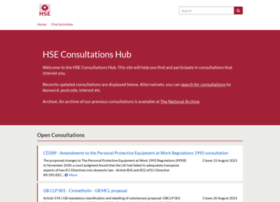 Consultations.hse.gov.uk