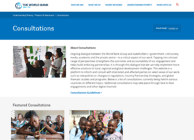 consultations.worldbank.org