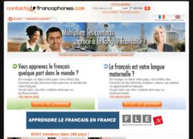 contactsfrancophones.com