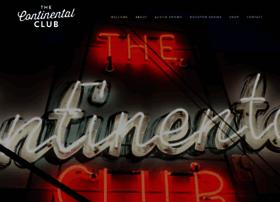 continentalclub.com
