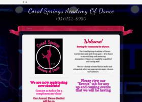 coralspringsacademyofdance.com