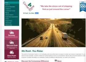 cornerstonecourier.com