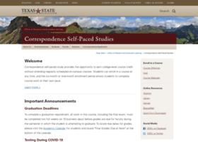 correspondence.txstate.edu