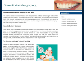 cosmeticdentalsurgery.org