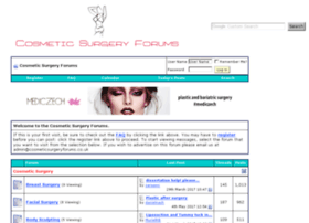 cosmeticsurgeryforums.co.uk