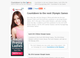 countdowntogames.org