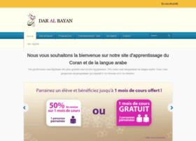coursarabe-daralbayan.fr