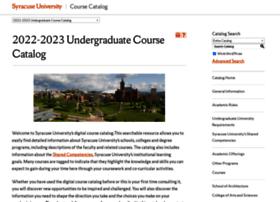 coursecatalog.syr.edu