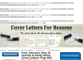 coverletterstoresume.com