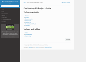 cppstartingkitproject-guide.readthedocs.org