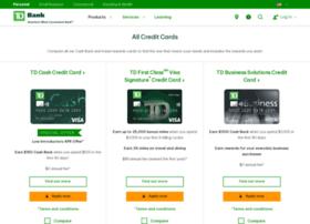 creditcards.tdcardservices.com