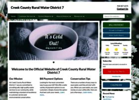 creekcountyrwd7.ruralwaterusa.com