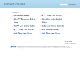 cricket-live.net