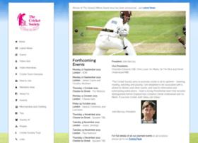 cricketsociety.com