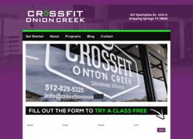 crossfitonioncreek.com
