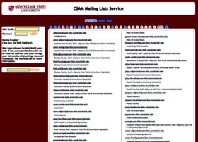 csam-lists.montclair.edu