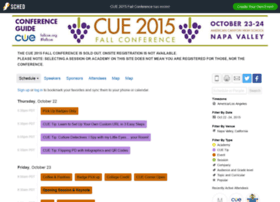 cue2015fallconference.sched.org