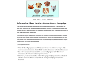 curecaninecancer.org