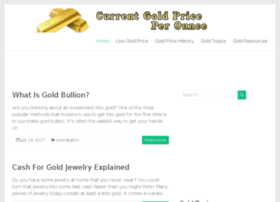 currentgoldpriceperounce.com