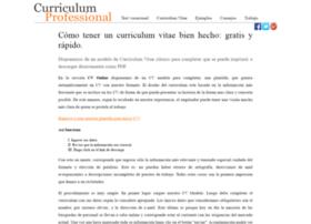 curriculum-professional.com