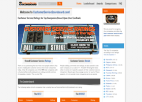 customerservicescoreboard.com