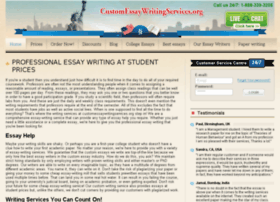 customessaywritingservices.org