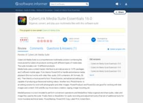 cyberlink-media-suite-essentials.software.informer.com