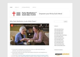dailymeditationaudiobibleplayer.com