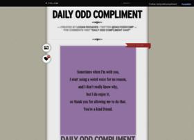 dailyoddcompliment.tumblr.com