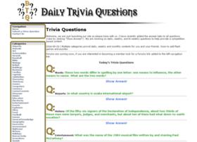 dailytriviaquestions.com