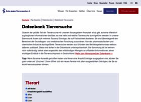 datenbank-tierversuche.de
