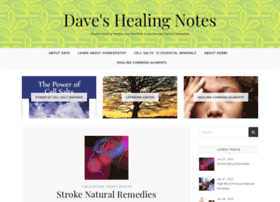 daveshealingnotes.com