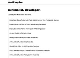 davidhayden.org