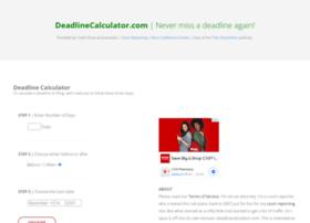 Deadlinecalculator.com