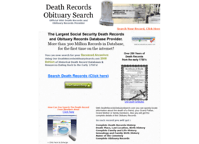 deathrecordsobituarysearch.com