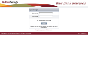 dedhamsavings.performancedelta.com
