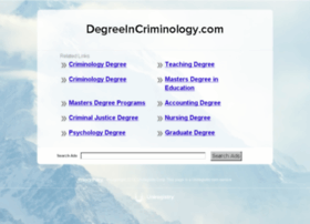 degreeincriminology.com