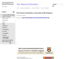 dentistry.bham.ac.uk