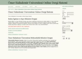 dergi.nigde.edu.tr