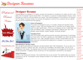 Interior Designer  Description on Designer Resume Websites And Posts On Free Sample Graphic Designer